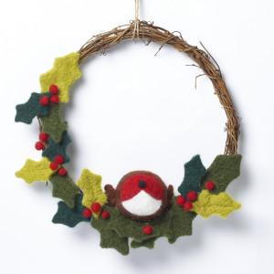 Winter Wreath needle felting kit