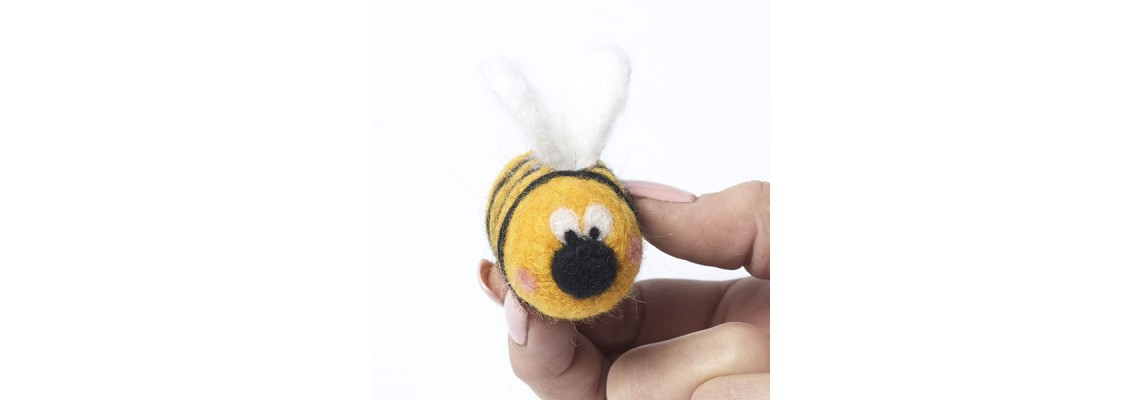 How to Needle Felt a Bee
