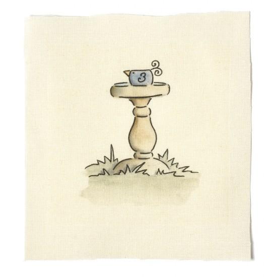 Illustrations on Calico-Bird Bath