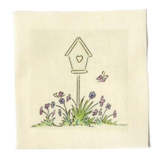 Illustrations on Calico-Bird House
