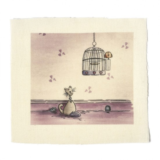 Illustrations on Calico-Hector Cat and the Birdie