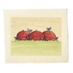 Illustrations on Calico-Pumpkins