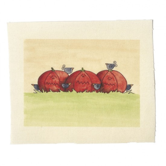 Illustrations on Calico-Pumpkins