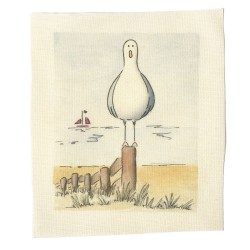 Illustrations on Calico-Stanley the Seagull