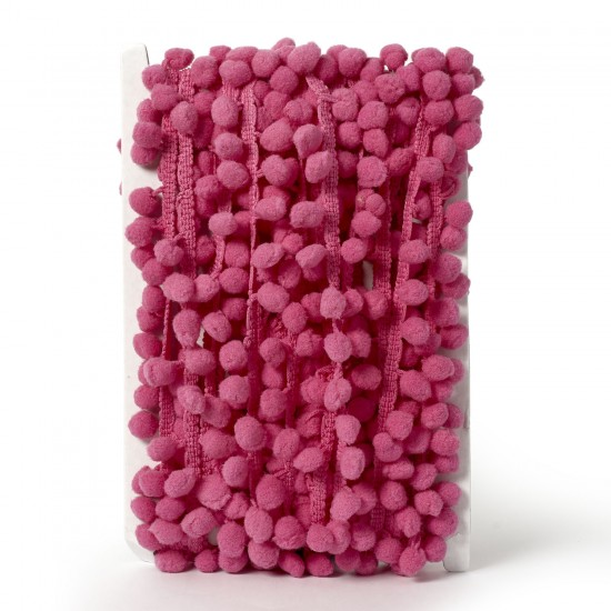 Pom-Pom Trimming 20mm-Dusty Pink- available by the meter
