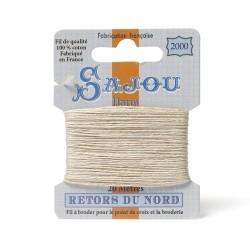 Sajou Retors Du Nord Cotton Embroidery Thread-2000 Cream