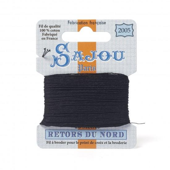 Sajou Retors Du Nord Cotton Embroidery Thread-2005 Black