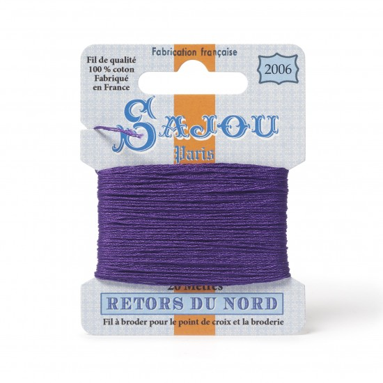 Sajou Retors Du Nord Cotton Embroidery Thread-2006 Purple