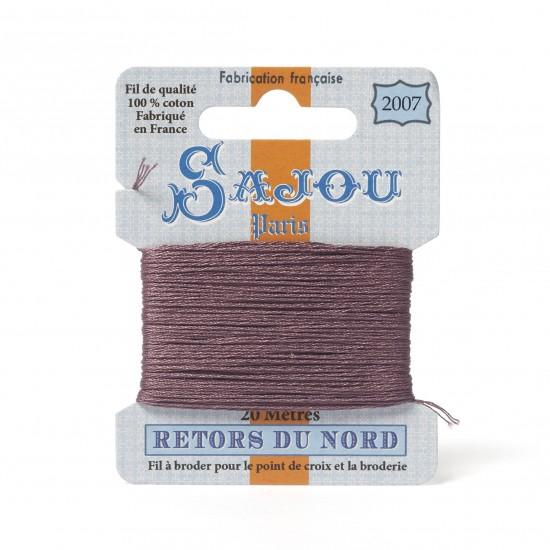 Sajou Retors Du Nord Cotton Embroidery Thread-2007 Purple