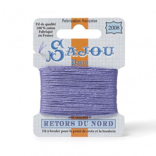 Sajou Retors Du Nord Cotton Embroidery Thread-2008 Purple