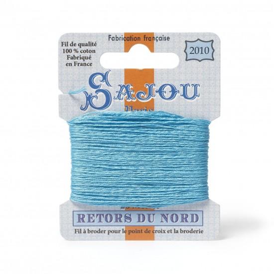 Sajou Retors Du Nord Cotton Embroidery Thread-2010 Aqua