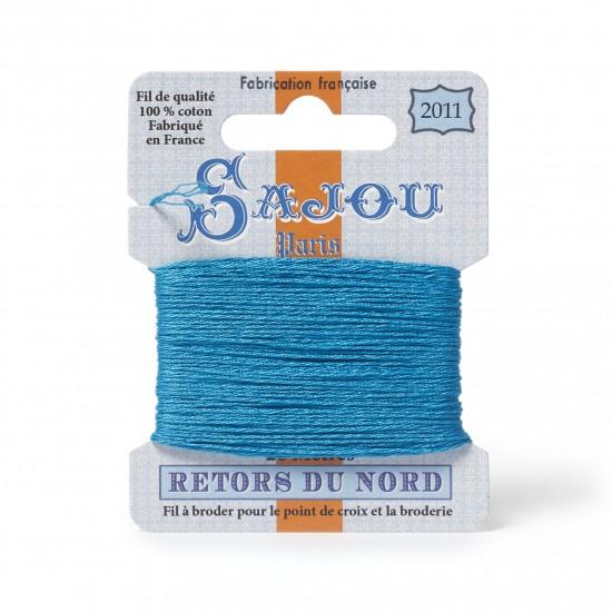 Sajou Retors Du Nord Cotton Embroidery Thread-2011 Aqua
