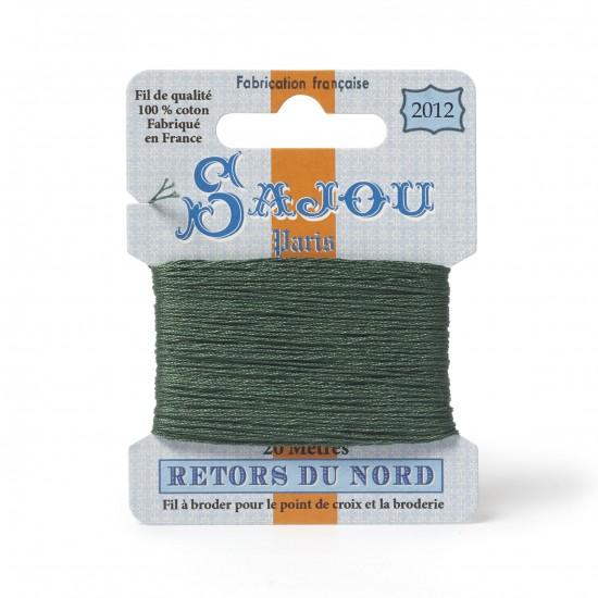 Sajou Retors Du Nord Cotton Embroidery Thread-2012 Green