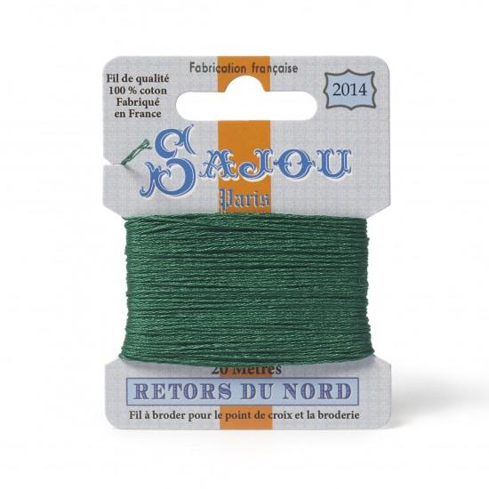 Sajou Retors Du Nord Cotton Embroidery Thread-2014 Green