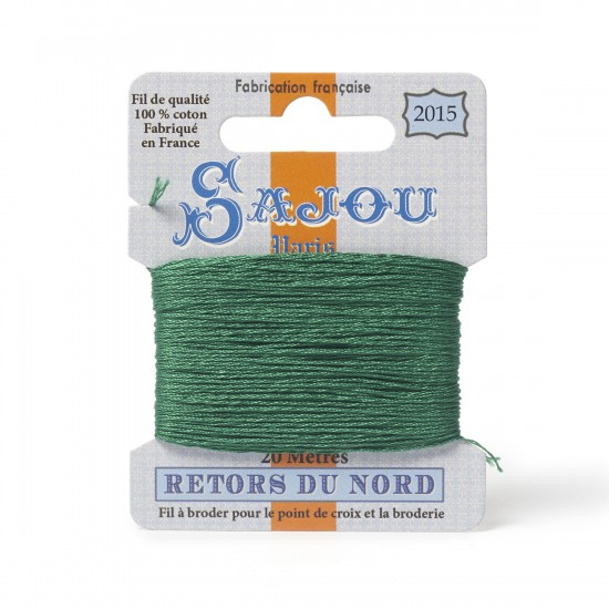 Sajou Retors Du Nord Cotton Embroidery Thread-2015 Green