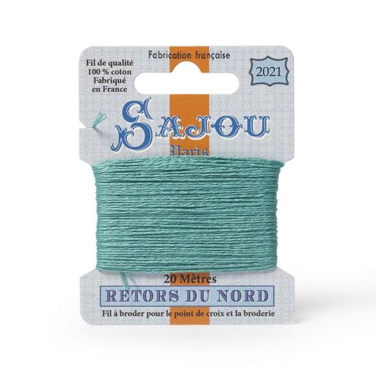 Sajou Retors Du Nord Cotton Embroidery Thread-2021 Aqua