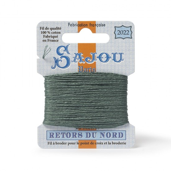 Sajou Retors Du Nord Cotton Embroidery Thread-2022 Green
