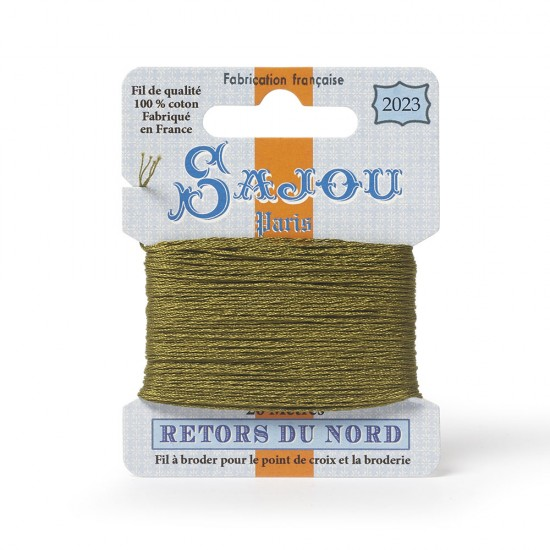 Sajou Retors Du Nord Cotton Embroidery Thread-2023 Green