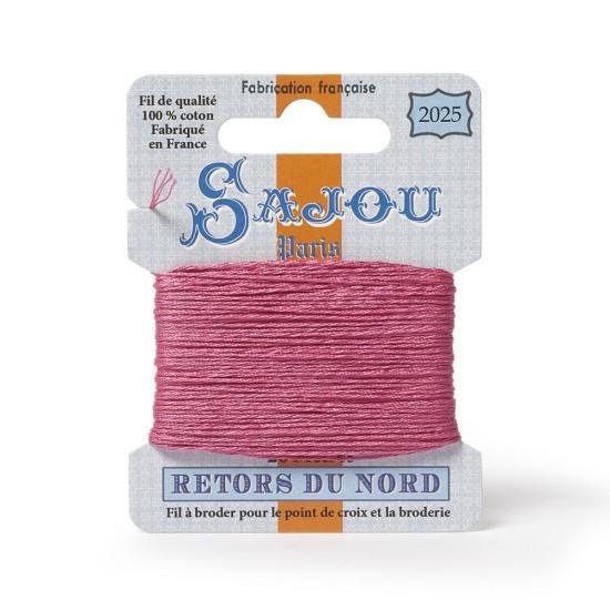 Sajou Retors Du Nord Cotton Embroidery Thread-2025 Pink
