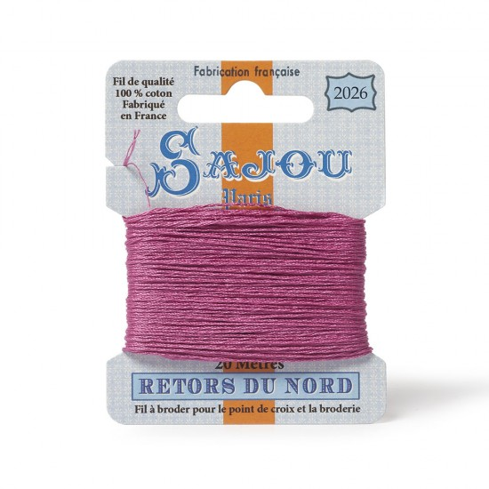 Sajou Retors Du Nord Cotton Embroidery Thread-2026 Pink