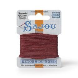 Sajou Retors Du Nord Cotton Embroidery Thread--2028 Red