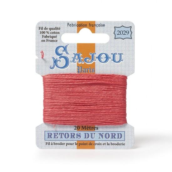 Sajou Retors Du Nord Cotton Embroidery Thread-2029-Salmon Pink