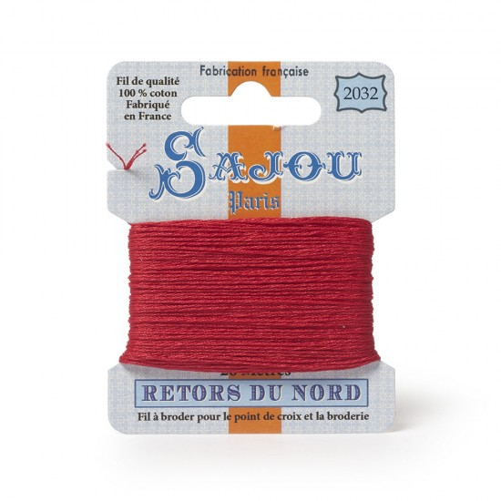 Sajou Retors Du Nord Cotton Embroidery Thread-2030-Red