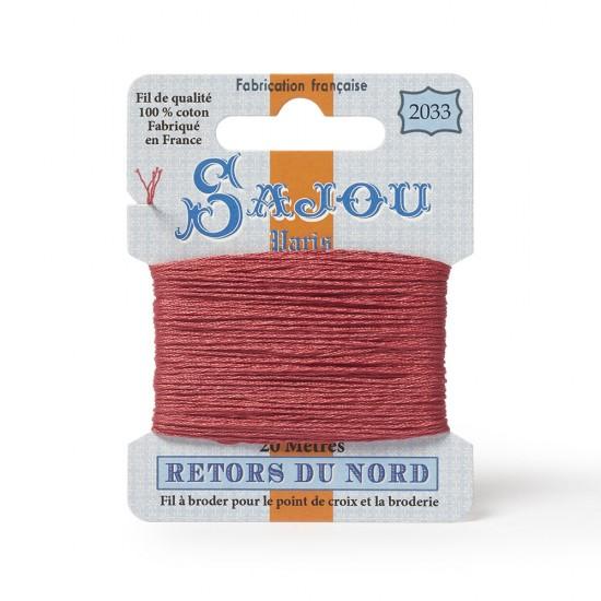 Sajou Retors Du Nord Cotton Embroidery Thread-2033-Salmon Pink
