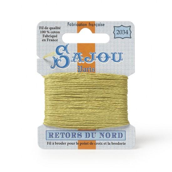 Sajou Retors Du Nord Cotton Embroidery Thread-2034 Green