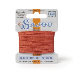 Sajou Retors Du Nord Cotton Embroidery Thread-2035 Orange
