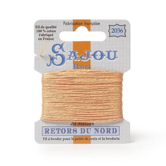 Sajou Retors Du Nord Cotton Embroidery Thread-2036-Orange