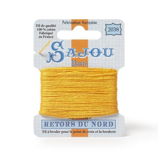 Sajou Retors Du Nord Cotton Embroidery Thread-2038-Yellow