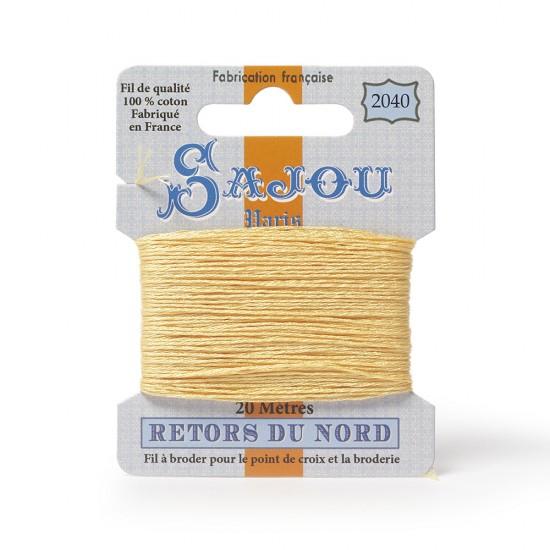 Sajou Retors Du Nord Cotton Embroidery Thread-2040-Orange