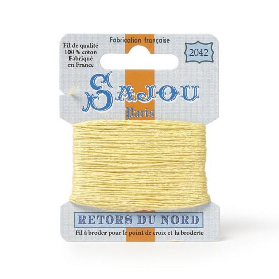 Sajou Retors Du Nord Cotton Embroidery Thread-2042-Yellow