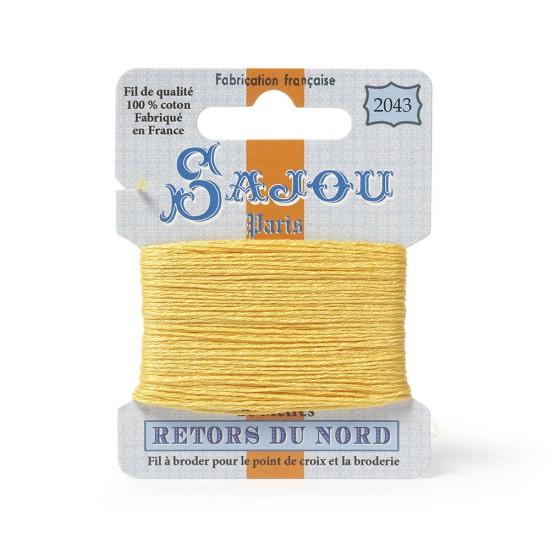 Sajou Retors Du Nord Cotton Embroidery Thread-2043-Yellow