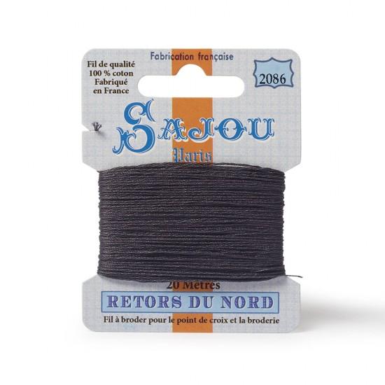 Sajou Retors Du Nord Cotton Embroidery Thread-2086 Grey
