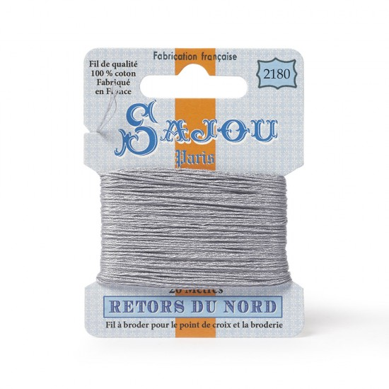 Sajou Retors Du Nord Cotton Embroidery Thread-2180 Grey