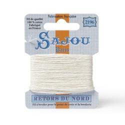 Sajou Retors Du Nord Cotton Embroidery Thread-2196 Cream
