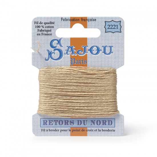 Sajou Retors Du Nord Cotton Embroidery Thread-2221 Cream