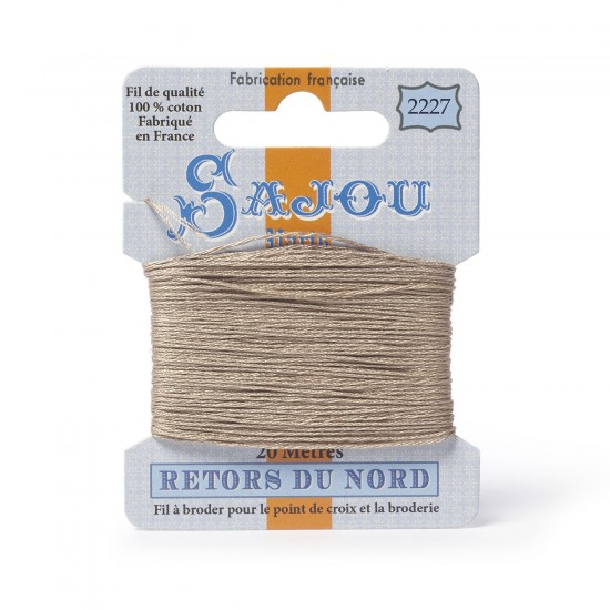 Sajou Retors Du Nord Cotton Embroidery Thread-2227-Beige
