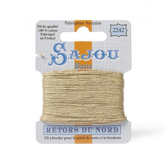 Sajou Retors Du Nord Cotton Embroidery Thread-2242-Beige