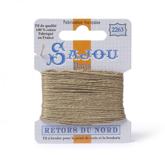 Sajou Retors Du Nord Cotton Embroidery Thread-2263-Beige