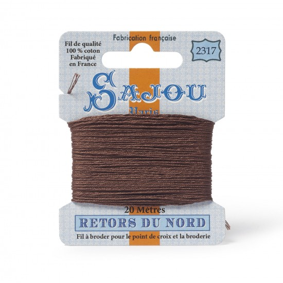Sajou Retors Du Nord Cotton Embroidery Thread-2317-Brown