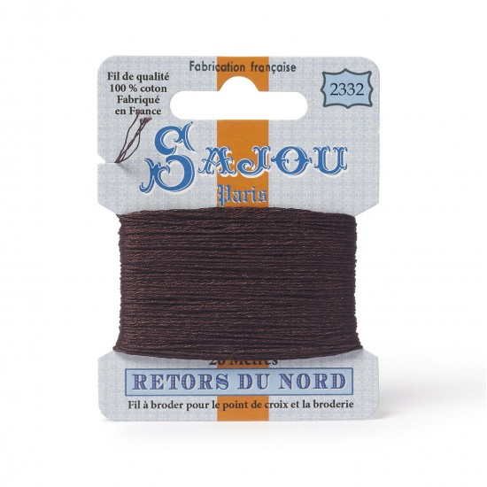 Sajou Retors Du Nord Cotton Embroidery Thread-2332-Brown
