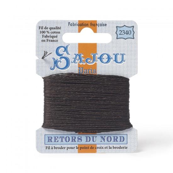 Sajou Retors Du Nord Cotton Embroidery Thread-2340-Brown