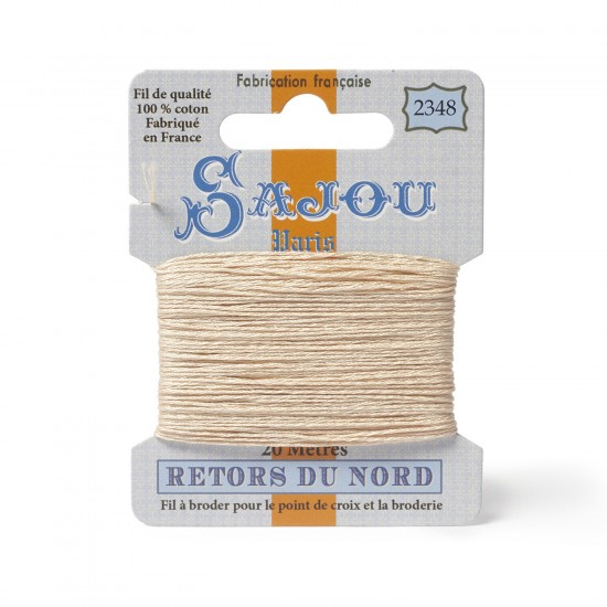 Sajou Retors Du Nord Cotton Embroidery Thread-2348 Cream
