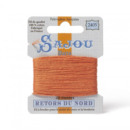 Sajou Retors Du Nord Cotton Embroidery Thread-2405-Orange