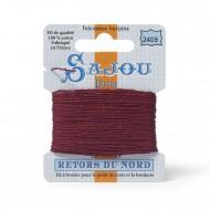 Sajou Retors Du Nord Cotton Embroidery Thread--2409 Red