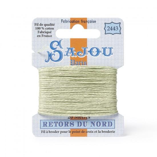 Sajou Retors Du Nord Cotton Embroidery Thread-2443 Green