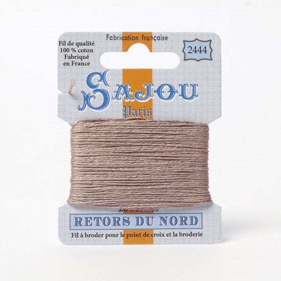 Sajou Retors Du Nord Cotton Embroidery Thread-2444-Beige